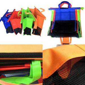 4PCS / SET PANIER CHARIER Sacs à chariot PLUS PLUS PLUS Épicerie réutilisable Sac Eco Supermarché Sac Facile à utiliser et Heavy Duty Bolsas DHF3524