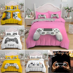 Pink Girl Gamepad Duvet Cover Set Cartoon Luxury Gamer Bedding Sets King Queen Single Quilt Comforter Covers Bedlinen