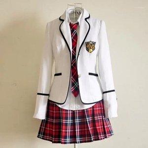 Conjuntos de roupas Uniformes da escola primária e estudantes japoneses de manga longa ler estudante britânico1