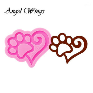 Shiny keychains Bear Silicone Molds DIY Jewelry Dog's keychain mould Epoxy Resin Cat and love Mold Custom 01291