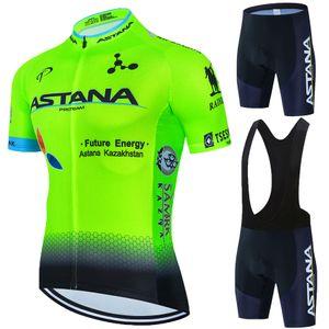 2021 Takım Astana Giyim Ropa Ciclismo Bisiklet Yaz MTB Pro Bisiklet Jersey Erkekler 19D Jel Pad Bisiklet Şort