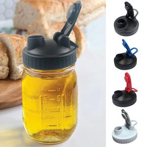 Mason-Glas-Deckel-Abdeckung trinkender Flaschendeckel mit Gießlöchern breiter Mundglaskappe-Leckfehler-Flaschenabdeckung für Küche OWC4425