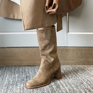 Hot Sale TAOFFEN New Design Women Half Short Boots Winter Women Warm Shoes Fashion Square Toe Short Boots Woman Footwear Size 34-43