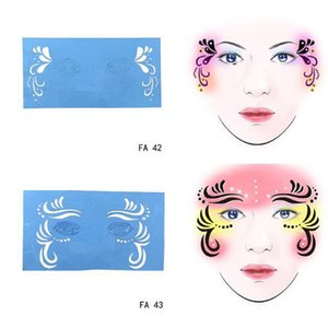 6Pcs set Reusable Face Paint Airbrush Glitter Tattoo Stencil Body Painting Tattoo Makeup Template Drawing Tattoo Design ToolRabi