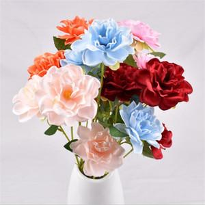 """Fakeards gardenia (3 ينبع / قطعة) 11.81 """"طول محاكاة الرأس الياسمين للزهور المنزل الاصطناعي الزخرفية"""