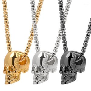 Punk Skull Men Necklace Long Pendant Necklace Boys Gold Silver Color Hip Hop Jewelry Fashion Gothic Accessories Boyfriend Gifts1