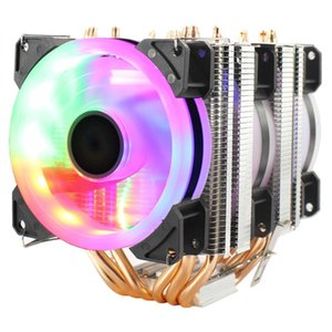 3 4PIN RGB LED CPU Cooler 6-Heatpipe Dual Tower 12V 9cm 3-Fan Cooling Heatsink Radiator for LGA 1150 1151 1155 1156 775 1366 AMD