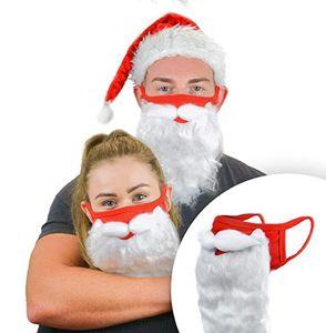 Holiday Santa Beard Face Mask Costume per adulti per Natale 2020 (taglia unica per tutti) Red New DDD3491