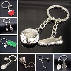 Creative Métal Soccer Shoes Keychain Coupe du Monde Équipe de football Petite cadeau Cadeau Cadeau Carte de voiture Pendentif KR081 Keychains Mélanger 20 pièces beaucoup