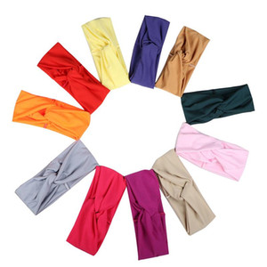 Solid Color Hairband Overlapping Motion Stop Sweating Headband Milk Yarn Hair Accessories Wide Edge Lightweight Woman 2 5jt O2
