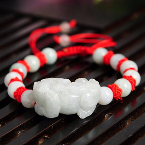 Ethnic Handmade Weave Red String 100% Natural PIXIU Bracelet Bring Lucky 1PCS