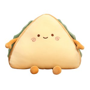 30 40CM Cute Sandwich Cake Plush Toys Simulation Foods Bread Pillow Soft Nap Sleeping Cushion for Girls Kids Stuffed Dolls