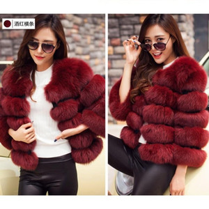 2020 winter new faux fur women's jacket short faux fur stitching casual all-match artificial