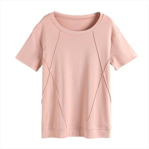 Womens wear is simple, large size, loose solid color pleated coat, short sleeve T shirt. korean clothes