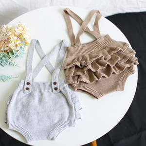 5226 Baby Girl Suspender Shorts Fall Winter New Butter-fly Knitted Skirt Short 6-24 Month Infant Baby Clothes Outfits