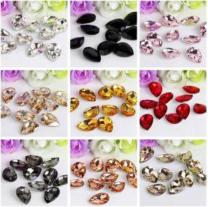 Crystal Drop Rhinestone Glass Gems Crystal Stones Sew On Crafts Decorations DIY Rhinestone Loose Beads 1339