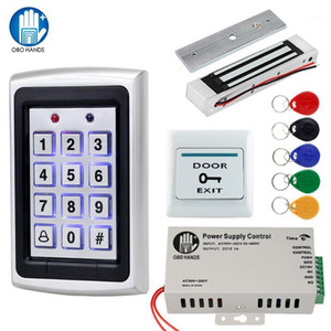 OBO MÃOS Access Control System Kit 125KHz RFID Keypad Toda à prova de chuva com porta elétrica Fechaduras 180kg Bloqueio magnético DC12V1