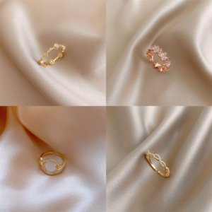 uSyL2 G Japanese and Korean Diamond Fashion Luxury high quality Twist brand fine Womens skull Jewelry Designer ring Cut Braid Stamp Ring