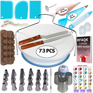 73pcs Tools Tools Set decorazione giradischi Decorazione Stampi per torta Set Decorating Table Table Fondant Tool Tool XD24312