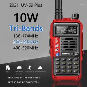 BaoFeng UV-S9 Plus Tri-Band Radio 10W High Power 136-174Mhz 220-225Mhz 400-520Mhz Walkie Talkie Amateur Handheld Ham 2Way Radio1