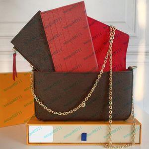Geldbörse Umhängetaschen Brieftasche Tasche Telefonbag Drei-Stück-Kombination Tragetaschen Karten Holderbag Datum Code Come Withe Box