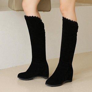 Gigifox 2020 Grandi taglie 43 Altezza crescente Dolce Ginocchio Alto Moda Stivali Femminile Scarpe invernali Donna1