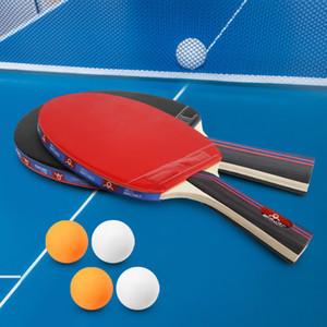 Ping Pang Ball Bat Set Pen-Heter Horizontal Tiro De Tenisão De Tênis Definido 4 Ping Pong Paddles 8 Ping Pong Bolas De Armazenamento Z1120