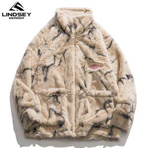 Lindsey Seader Mens Flece Faux Mur Thin Parkas Куртка зимняя мода Теплый Пальто Повседневная Верхняя одежда Уличная одежда Тонкая одежда C1201