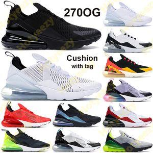 Tag 270s мужчины женщины беговые туфли тройной цветочные черные белые желтые регентства фиолетовые подушки крошечные подушки подурманы пыльные кактусы дух чил быть настоящими кроссовками