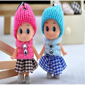 kids Toys Soft Interactive baby Dolls Toy Mini Doll Key chain pendant For Girls boys Bag Accessories Christmas gift
