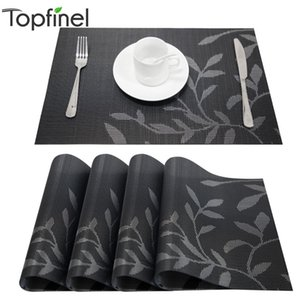 Set of 4 PVC Flower Pattern Placemats for Dining Table mat set Linens place mat in Kitchen Accessories Cup Wine Decorative mat Y1127