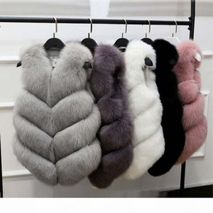 New Fashion Faux Fur Coat Winter Coat Women Waist Fur Gilet Women's Jacket Vest For Ladies