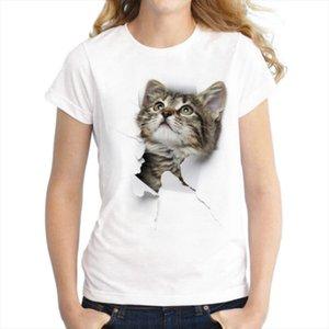 S 3XL Women 3D cat Dog Print Soft Feeling Casual Harajuku Women T Shirt Summer Short sleeve Casual Round neck Clothes Top