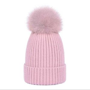 Beautiful Soft New Style Covering Yarn Autumn Winter Warm Women Natural Fur Ball, Knitting Elastic Hat  Cap ,Free Shipping