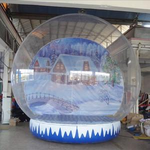Weihnachtsschneekugel 4m hoch klarer Weihnachten aufblasbare Globus mit benutzerdefiniertem Hintergrund freie Pumpe Freies Verschiffen