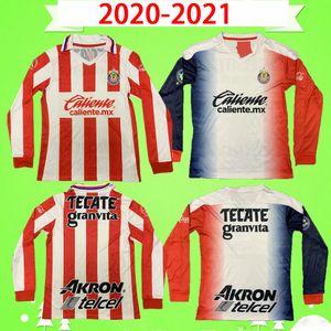 Uzun Kol 2020 2021 Chivas Guadalajara Futbol Formaları Tam Kollu Eve Dight Brizuela Chivas Mexico Futbol Gömlek Pulido Üniformaları 20 21