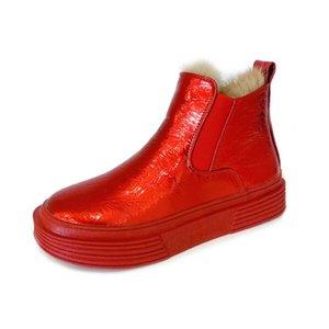 Европейская вокзала зима Новые патентные ботинки ботинки короткие ботинки высокой верхней плоской повседневной женской плюс в бархатные хлопчатобумажные туфли
