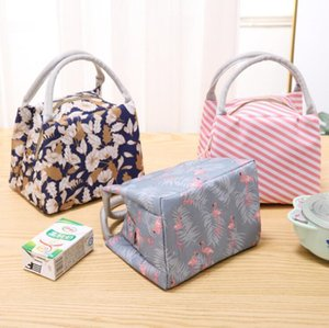 Waterproof lunch bags tote portable lunch box bag kitchen zipper storage bags for outdoor travel picnic thermal bag carry bags DHB3637
