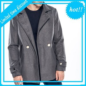 Manteau Casual Vestes Overcoats Vêtements mâles Chaquetta Hombre Hommes Automne Hiver Wool Blend Parka Veste Tops