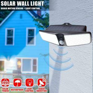 80LED Dual Security Detector Solar Spot Light Motion Sensor Outdoor Floodlight