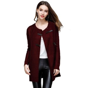Autumn And Winter 2020 New Knitted Cardigan Mohair Women's Coat Sweater For Women Cotton Tunics Free Shipping