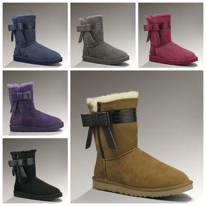 2020 Zapatos de mujer de cinta de piel de oveja y lana australianos