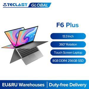 Teclast Laptops F6 Plus 13.3 بوصة Notebook Gemini Lake 8GB LPDDR4 256GB SSD ويندوز 10 كمبيوتر محمول 360 دوران شاشة تعمل باللمس