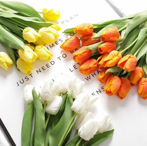 Artificiale tulipano fiori seta fiori artificiali decorazione di nozze fiori artificiali bouquet casa giardino decorazione tulipano regali marino GWC5963