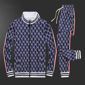 gucci 남자 의류 2020 브랜드 남성은 정장 봄 가을 긴 소매 투피스 세트 가을 운동복 조깅 재킷 + 바지에게 0121 ARGUK 땀