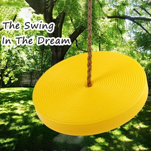 Children Disc Swing Toy Safety Seat Kids Round Rope Outdoor Playground Playing Entertainment Activity Green Plastic Disc Swing jlldqn