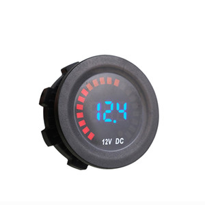 Car Mulitimeter DC12V Waterproof LED Round Panel Volt Meter For Truck ATV UTV Boat Marine Vehicle Digital Voltmeter