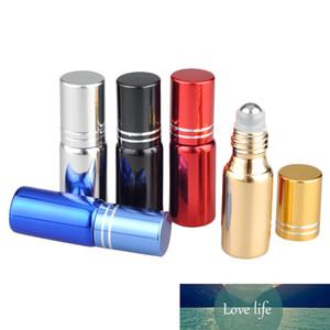 Aihogard Portable 5ML gros verre Essential bouteille d'huile avec l'acier Rouleau durable cosmétique Voyage Pot Dropshipping