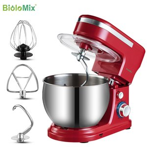 BioloMix 1200W 5L Stainless Steel Bowl 6-speed Kitchen Food Stand Mixer Cream Egg Whisk Whip Dough Kneading Mixer Blender Y1201