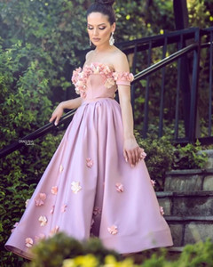 New Arrival Cheap Romantic A Line Long Prom Dresses Handmade Flowers Vestidos De Novia Off Shoulder Formal Evening Party Gowns ogstuff